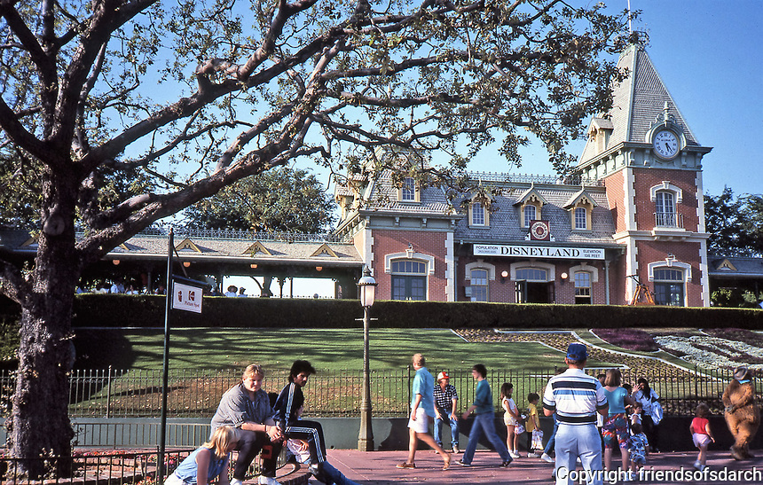 Disneyland, first of two theme parks built at Disneyland Resort in Anaheim, CA. Directly designed and supervised by Walt Disney. Opened in 1955.