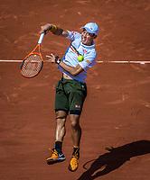 Paris, France, 5 June, 2017, Tennis, French Open, Roland Garros,  Kei Nishikori (JPN)<br /> Photo: Henk Koster/tennisimages.com