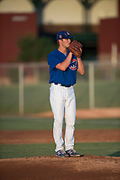 AZL Cubs 1 relief pitcher Peyton Remy (54) gets ready to deliver a pitch during an Arizona League game against the AZL Padres 1 at Sloan Park on July 5, 2018 in Mesa, Arizona. The AZL Cubs 1 defeated the AZL Padres 1 3-1. (Zachary Lucy/Four Seam Images)