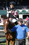 April 17, 2014: Daring Dancer and jockey Alan Garcia win the 26th running of the Appalachian Presented by Japan Racing Association $100,000 Grade 3 at Keeneland Racecourse for owner Sagamore Farm and trainer Graham Motion.  Candice Chavez/ESW/CSM