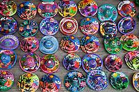 Souvenir Hand-painted Sombreros.  Xcaret, Riviera Maya, Yucatan, Mexico.