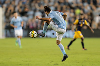 Kansas City, KS - Wednesday September 20, 2017: Graham Zusi during the 2017 U.S. Open Cup Final Championship game between Sporting Kansas City and the New York Red Bulls at Children's Mercy Park.