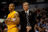 Jerome Randle and Mike Montgomery. The California Golden Bears defeated the UCLA Bruins 85-72 during the semifinals of the Pacific Life Pac-10 Conference Tournament at Staples Center in Los Angeles, California on March 12th, 2010.