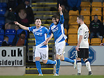 St Johnstone v Inverness Caley Thistle…03.12.16   McDiarmid Park..     SPFL<br />Murray Davidson celebrates his goal with Liam Craig<br />Picture by Graeme Hart.<br />Copyright Perthshire Picture Agency<br />Tel: 01738 623350  Mobile: 07990 594431