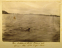 BNPS.co.uk (01202) 558833<br /> Pic: Charles Miller/BNPS<br /> <br /> One of the crew takes a dip in 1900<br /> <br /> A fascinating photo album compiled by a British naval officer on tour in the Far East at the turn of the 20th century has come to light.<br /> <br /> Taprell Dorling served on the HMS Terrible in 1900 at the start of an over 30 year career at sea.<br /> <br /> The album, containing 74 photos, has emerged for sale with auctioneers Charles Miller, of London, with an estimate of £3,000.