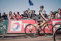 Tom Pidcock (GBR/U23/Telenet Fidea Lions) on the startline of his first U23 race for the Telenet Fidea Lions<br /> <br /> CX Super Prestige Zonhoven 2017