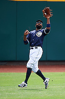 Columbus Clippers left fielder Joey Butler (28) during a game against the Lehigh Valley IronPigs on May 12, 2016 at Huntington Park in Columbus, Ohio.  Lehigh Valley defeated Columbus 2-1.  (Mike Janes/Four Seam Images)