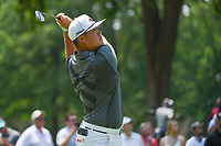 4th July 2021, Detroit, MI, USA;  Sungjae Im (KOR) watches his tee shot on 5 during the Rocket Mortgage Classic Rd4 at Detroit Golf Club on July 4,
