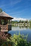 Austria, Tyrol, Innsbruck Holiday Village Natters: Lake Natters | Oesterreich, Tirol, Innsbrucks Feriendorf Natters: Natterer See