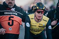 Dylan Groenewegen (NED/LottoNL-Jumbo) wins the  70th Kuurne-Brussel-Kuurne (2018)<br /> <br /> Kuurne › Kuurne: 200km (BELGIUM)