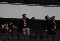 Ein paar VIPs und Verantwortliche dürfen doch zugucken - 12.03.2020: Eintracht Frankfurt vs. FC Basel, UEFA Europa League, Achtelfinale, Commerzbank Arena<br /> DISCLAIMER: DFL regulations prohibit any use of photographs as image sequences and/or quasi-video.