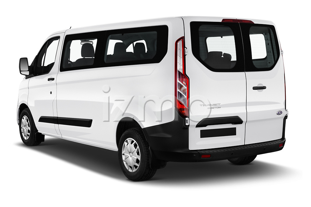 Car pictures of rear three quarter view of 2018 Ford Transit-Custom Trend 4 Door Passanger Van Angular Rear
