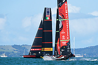 15th March 2021; Waitemata Harbour, Auckland, New Zealand;  Emirates Team New Zealand v Luna Rossa Prada Pirelli. Race 7, Day 5 of the America's Cup presented by Prada. Auckland, New Zealand