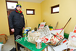 Finuge GAA Club Break-in: Aidan O'Sullivan photograped with some of the damage during the break - in at the Clubhouse.