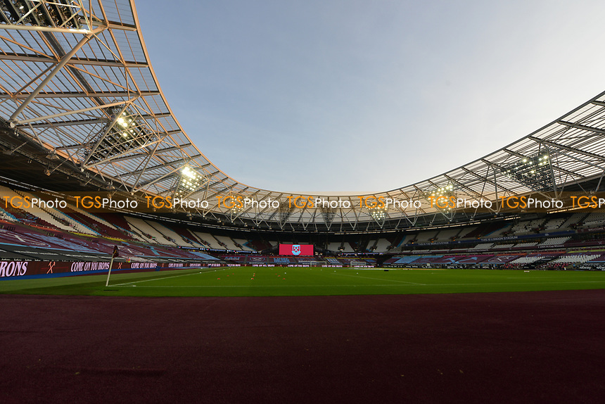 General view of the London Stadium Covid 19 No Fans during West Ham United vs Newcastle United, Premier League Football at The London Stadium on 12th September 2020
