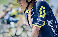 Johan Esteban Chaves (COL/ORICA-Scott) post-finish<br /> <br /> stage 7: Aoste > Alpe d'Huez (168km)<br /> 69th Critérium du Dauphiné 2017