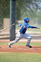 Texas Rangers shortstop Isiah Kiner-Falefa (5) during an Instructional League game against the Cincinnati Reds on October 7, 2013 at Goodyear Training Complex in Goodyear, Arizona.  (Mike Janes/Four Seam Images)