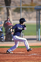 Brandon Cho (45), from Seattle, Washington, while playing for the Padres during the Under Armour Baseball Factory Recruiting Classic at Red Mountain Baseball Complex on December 29, 2017 in Mesa, Arizona. (Zachary Lucy/Four Seam Images)