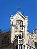 Detail of the Gran Hotel Weyler (1902), today La Caixa Foundation, by the catalan architect Doménech i Montaner with ceramic tiles by the La Roqueta fabric<br /> <br /> Detalle de la fachada del Gran Hotel Weyler (1902), hoy Fundación La Caixa, del arquitecto catalán Doménech i Montaner (cast.: Doménech y Montaner) con azulejos de la fábrica La Roqueta<br /> <br /> Detail der Fassade des Gran Hotel Weyler (1902), heute La Caixa Stiftung, von dem katalanischen Architekten Doménech i Montaner mit Keramikkacheln der La Roqueta Fabrik<br /> <br /> 2272 x 1704 px<br /> 150 dpi: 38,47 x 28,85 cm<br /> 300 dpi: 19,24 x 14,43 cm