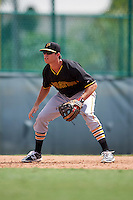 Pittsburgh Pirates Eric Wood (59) during an instructional league intrasquad black and gold game on September 23, 2015 at Pirate City in Bradenton, Florida.  (Mike Janes/Four Seam Images)