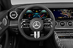 Car pictures of steering wheel view of a 2021 Mercedes Benz E-Class-Cabriolet E450 2 Door Convertible Steering Wheel