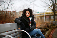 Leandra Mira poses for a portrait at Point State Park on Wednesday December 11, 2019 in Pittsburgh, Pennsylvania. (Photo by Jared Wickerham/Pittsburgh City Paper)