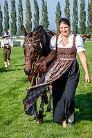 AUT-Katrin Khoddam-Hazrati presents Oklahoma 2 during the First Horse Inspection. 2021 SUI-FEI European Eventing Championships - Avenches. Switzerland. Wednesday 22 September 2021. Copyright Photo: Libby Law Photography