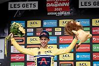 Richie Porte (AUS/Ineos Grenadiers) winning his first Dauphiné title at 36yr<br /> <br /> 73rd Critérium du Dauphiné 2021 (2.UWT)<br /> Stage 8 (Final) from La Léchère-Les-Bains to Les Gets (147km)<br /> <br /> ©kramon
