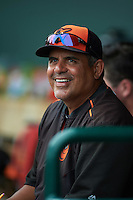GCL Orioles pitching coach Wilson Alvarez during the second game of a doubleheader against the GCL Rays on August 1, 2015 at the Ed Smith Stadium in Sarasota, Florida.  GCL Orioles defeated the GCL Rays 11-4.  (Mike Janes/Four Seam Images)