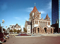 H. H. Richardson: Trinity Church and the Hancock Tower, Copley Square, Boston 1876-1877.