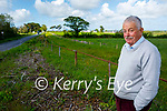 Cllr Robert Beasley standing at the site of the new Listowel Bypass where its proposed to name it after the late TD Paddy Finucane.