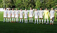 Vriendschappelijke interland vrouwenvoetbal : Belgium A - France A te Nieuwpoort ;..ploegfoto Frankrijk A..foto DAVID CATRY / Vrouwenteam.be