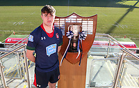 Monday 27th January 2020 | Ulster Schools' Cup Draw<br /> <br /> Coleraine Grammar School captain Luke Bell at the draw for the Ulster Schools' Cup Quarter Finals held at Kingspan Stadium, Ravenhill Park, Belfast, Northern Ireland. Fixtures to be played on or before 8 Feb 2020.  Photo credit - John Dickson DICKSONDIGITAL
