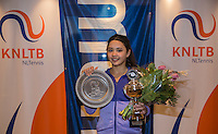 Hilversum, Netherlands, December 4, 2016, Winter Youth Circuit Masters, winner girls 14 years Marwa Hakimi <br /> Photo: Tennisimages/Henk Koster
