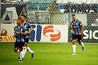 PORTO ALEGRE, (RS), 14.02.2021 - GRÊMIO - SÃO PAULO – O atacante Diego Souza, da equipe do Grêmio, comemora o seu gol, na partida entre Grêmio e São Paulo, válida pela 36ª rodada do Campeonato Brasileiro 2020, no estádio Arena do Grêmio, em Porto Alegre, neste domingo (14).