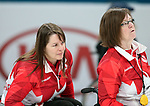 Pyeongchang, Korea, 15/3/2018-Marie Wright and Ina Forrest compete in the  wheelchair curling during the 2018 Paralympic Games in PyeongChang.  Photo Scott Grant/Canadian Paralympic Committee.
