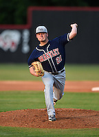 Lake Brantley Patriots pitcher Trey Van Der Weide (21) during a game against the Lake Mary Rams on April 2, 2015 at Allen Tuttle Field in Lake Mary, Florida.  Lake Brantley defeated Lake Mary 10-5.  (Mike Janes/Four Seam Images)