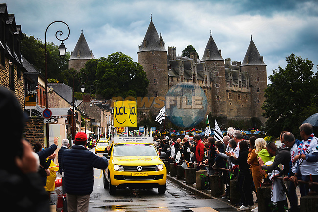 The publicity caravan before Stage 3 of the 2021 Tour de France, running 182.9km from Lorient to Pontivy, France. 28th June 2021.  <br /> Picture: A.S.O./Aurelien Vialatte   Cyclefile<br /> <br /> All photos usage must carry mandatory copyright credit (© Cyclefile   A.S.O./Aurelien Vialatte)