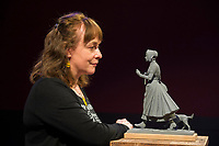 BNPS.co.uk (01202 558833)<br /> Pic: Graham Hunt/BNPS<br /> <br /> Pictured: A scaled-down model of a new statue to honour pioneering palaeontologist Mary Anning unveiled at the weekend. Sculptor Denise Dutton unveiled the maquette - a 1/8 scale resin model - following a £100,000 fundraising campaign by schoolgirl Evie Swire to have a statue of Anning in her home town of Lyme Regis, Dorset.<br /> <br /> An incredibly rare letter written by the pioneering fossil collector Mary Anning to a close friend recounting her discoveries has been unearthed.<br /> <br /> The never-before-seen letter, that is worth £70,000, was sent by Anning to William Buckland, an geologist and palaeontologist, in 1824.<br /> <br /> It was rediscovered by Buckland's descendants stowed away amongst papers in a drawer in the family home.