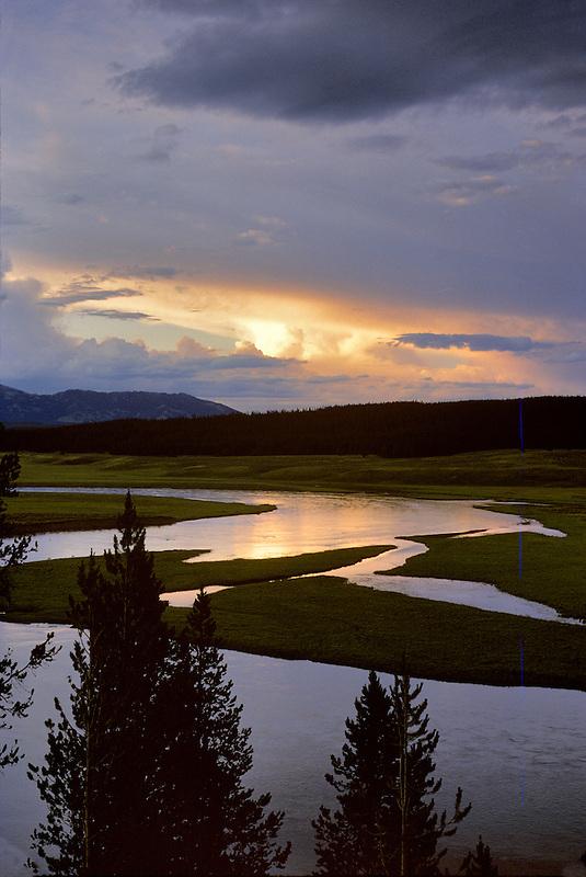 Yellowstone River at sunset.