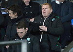 St Johnstone v Hibs…16.03.18…  McDiarmid Park    SPFL<br />Neil Lennon takes his seat in the stand<br />Picture by Graeme Hart. <br />Copyright Perthshire Picture Agency<br />Tel: 01738 623350  Mobile: 07990 594431