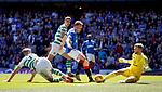 12.05.2019 Rangers v Celtic: Scott Arfield in on Scott Bain