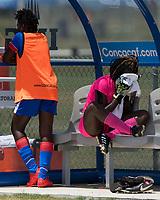 Bradenton, FL - Sunday, June 12, 2018: Haiti, Madelina Fleuriot prior to a U-17 Women's Championship 3rd place match between Canada and Haiti at IMG Academy. Canada defeated Haiti 2-1.
