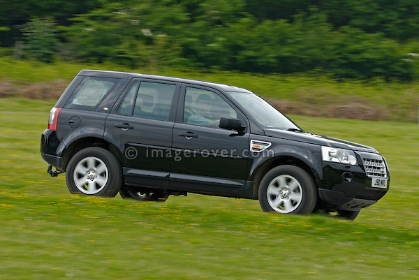 Land Rover Freelander 2 at the ALRC National 2008. The Association of Land Rover Clubs (ALRC) National Rallye is the biggest annual motor sport oriented Land Rover event and was hosted 2008 by the Midland Rover Owners Club at Eastnor Castle in Herefordshire, UK, 22 - 27 May 2008. --- No releases available. Automotive trademarks are the property of the trademark holder, authorization may be needed for some uses.