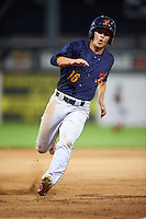 State College Spikes shortstop Tommy Edman (16) running the bases during a game against the Batavia Muckdogs on June 24, 2016 at Dwyer Stadium in Batavia, New York.  State College defeated Batavia 10-3.  (Mike Janes/Four Seam Images)