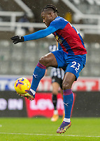 2nd February 2021; St James Park, Newcastle, Tyne and Wear, England; English Premier League Football, Newcastle United versus Crystal Palace; Michy Batshuayi of Crystal Palace controls the high ball