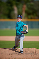 Nicholas Devine (63) of Bismarck, North Dakota during the Baseball Factory Pirate City Christmas Camp & Tournament on December 28, 2018 at Pirate City in Bradenton, Florida. (Mike Janes/Four Seam Images)