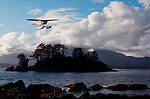 Sea Plane, Clayoquot Sound, west coast of Vancouver Island, perfect wilderness islands for sea kayaking Canada's Vancouver Island west coast,