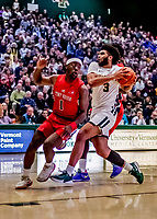 8 January 2020: University of Vermont Catamount Forward Anthony Lamb, a Senior from Rochester, NY, in first half action against the Stony Brook University Seawolves at Patrick Gymnasium in Burlington, Vermont. The Seawolves defeated the Catamounts 81-77 in a closely fought game. Mandatory Credit: Ed Wolfstein Photo *** RAW (NEF) Image File Available ***