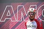 Elia Viviani (ITA) Cofidis at sign on before the start of Stage 13 of the 2021 Giro d'Italia, running 198km from Ravenna to Verona, Italy. 21st May 2021.  <br /> Picture: LaPresse/Marco Alpozzi | Cyclefile<br /> <br /> All photos usage must carry mandatory copyright credit (© Cyclefile | LaPresse/Marco Alpozzi)